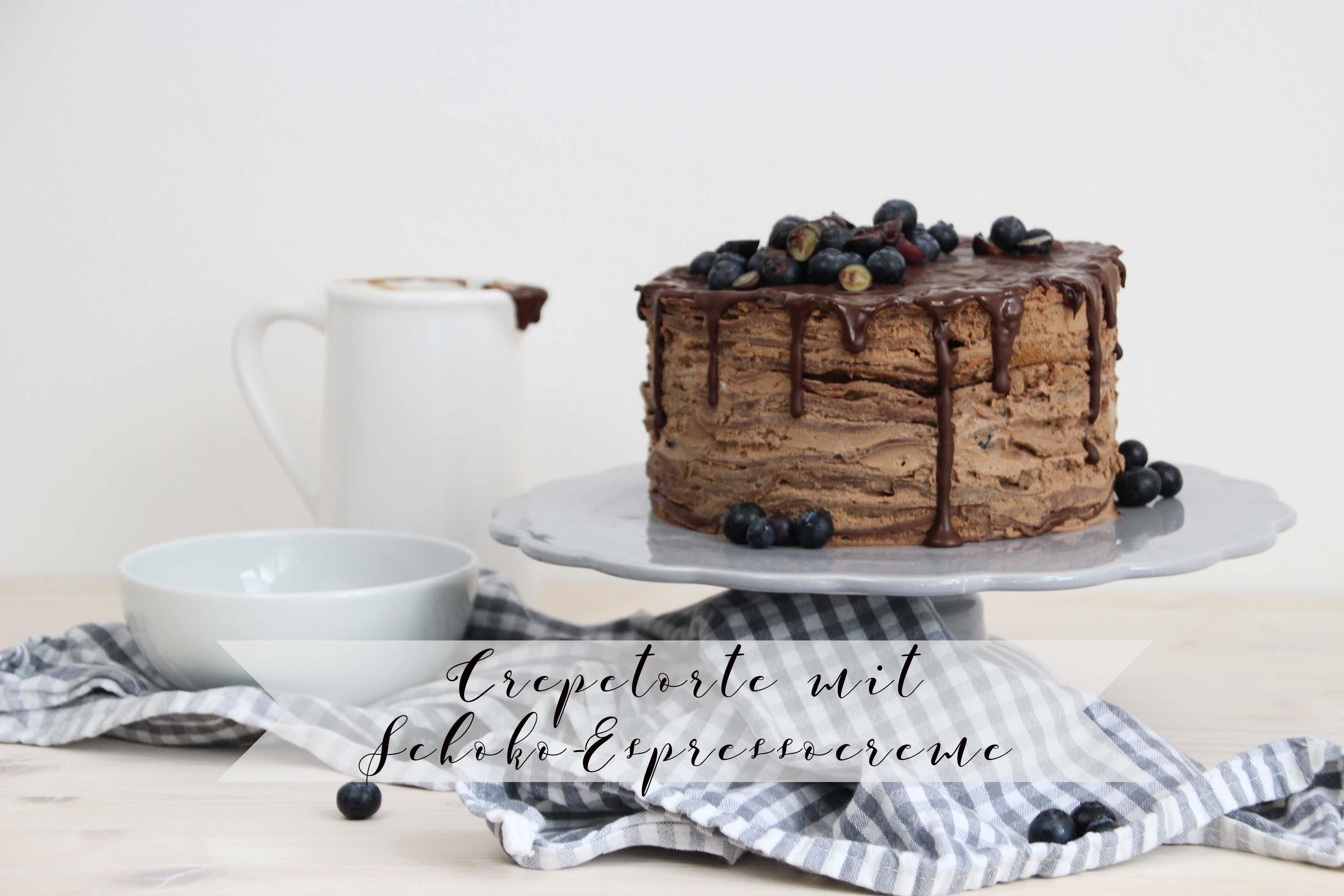 Crepetorte mit Espresso-Schokocreme