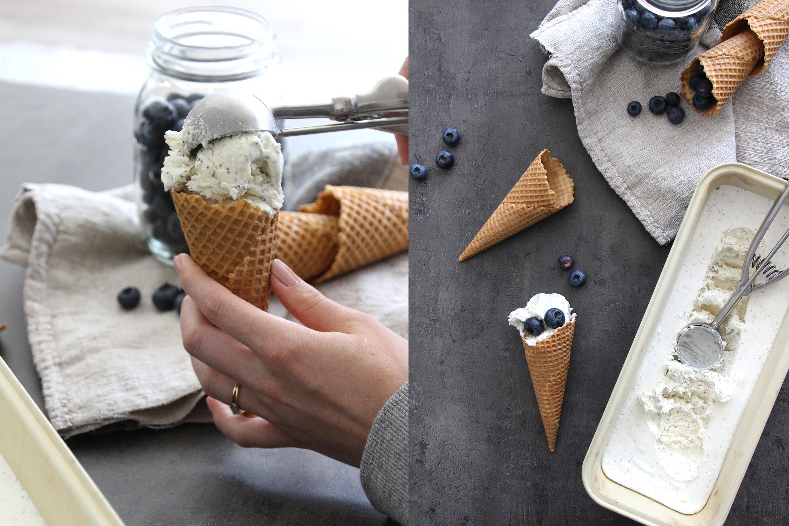 eis ohne eismaschine joghurt mohn marzipaneis. Black Bedroom Furniture Sets. Home Design Ideas