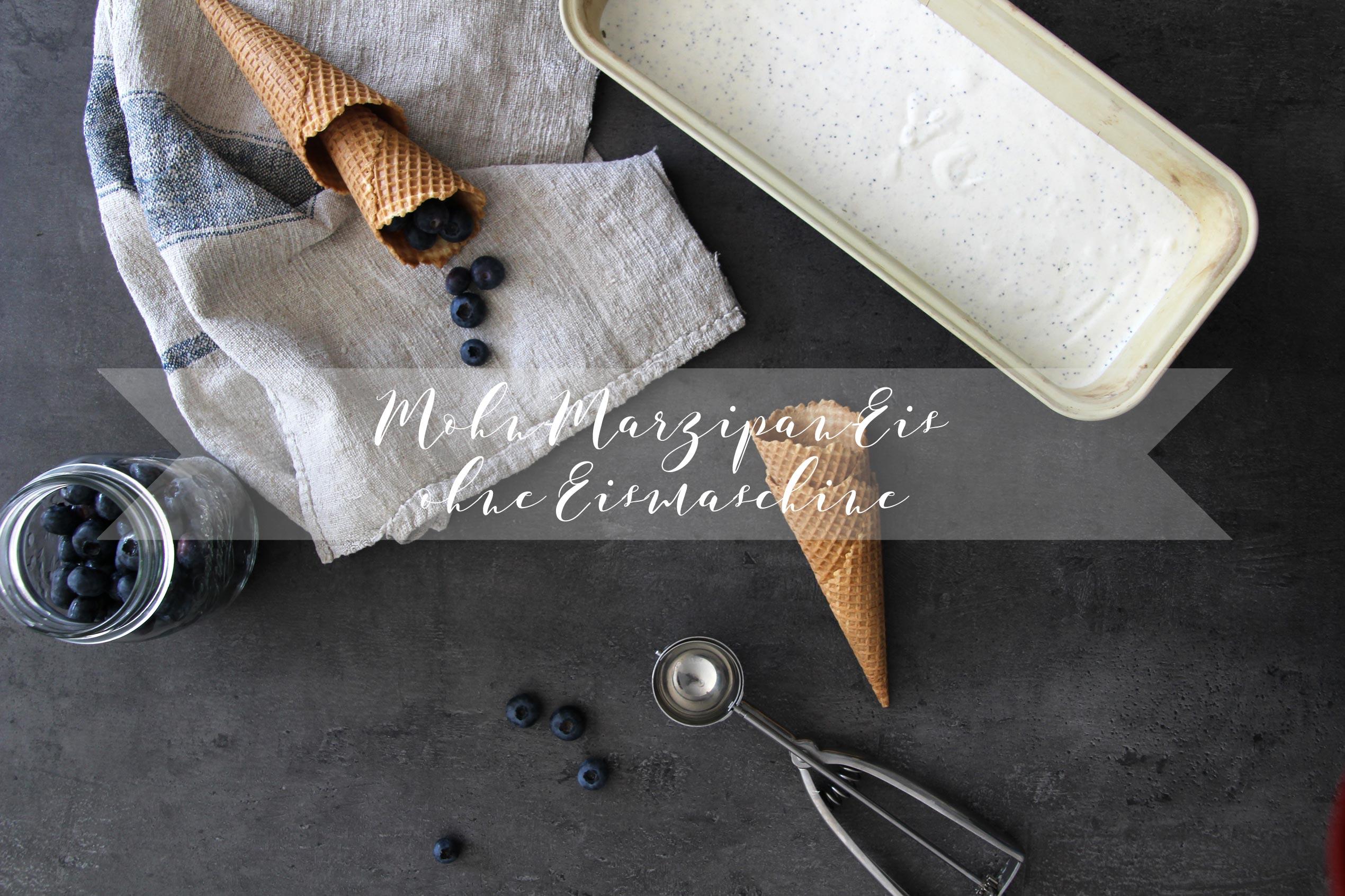 Eis ohne Eismaschine: Joghurt-Mohn-Marzipaneis