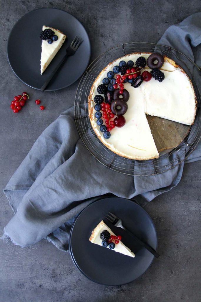 Oreo Cheesecake mit frischen Beeren