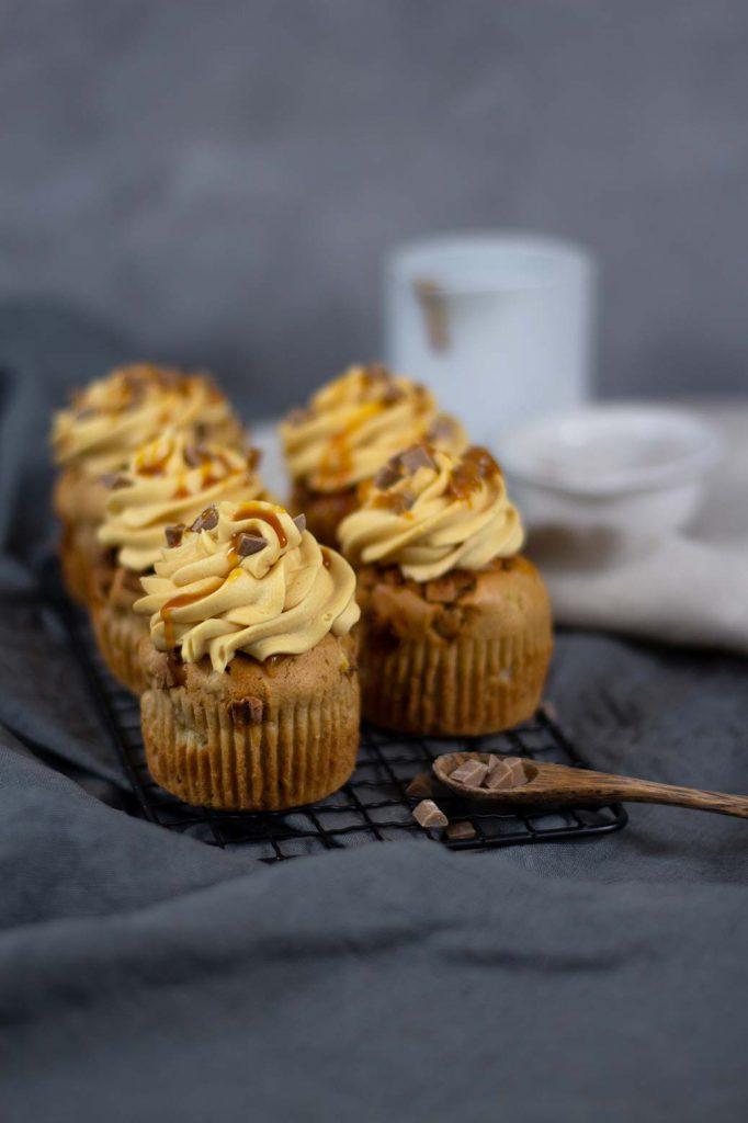 Rezept für Salted Caramel Muffins mit flüssigem Kern