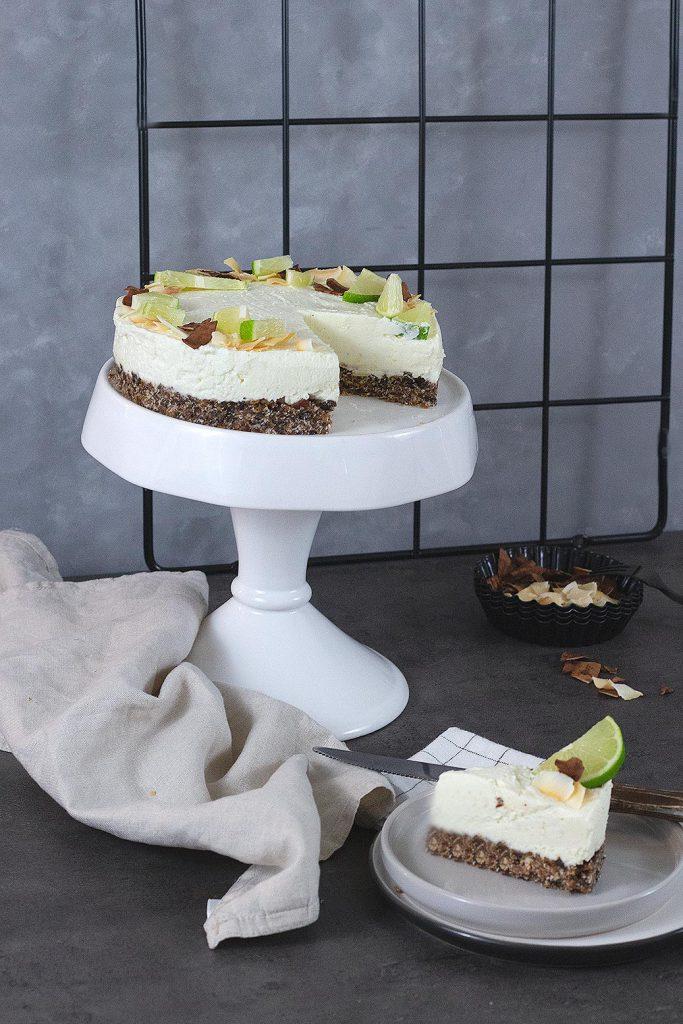 Rezept für No bake Kokos-Cheesecake