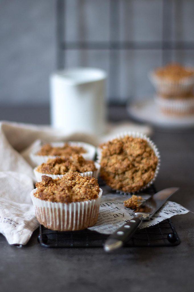 Rezept für gesündere Apfel-Rhababermuffins