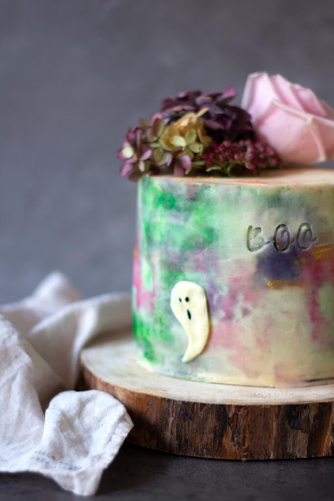 Rezept für Halloweentorte Vintage pastel