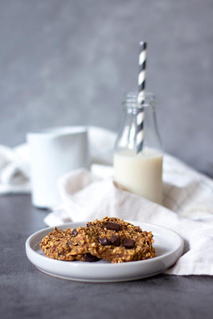 Rezept für zuckerfreie Kürbiskekse mit Schokolade
