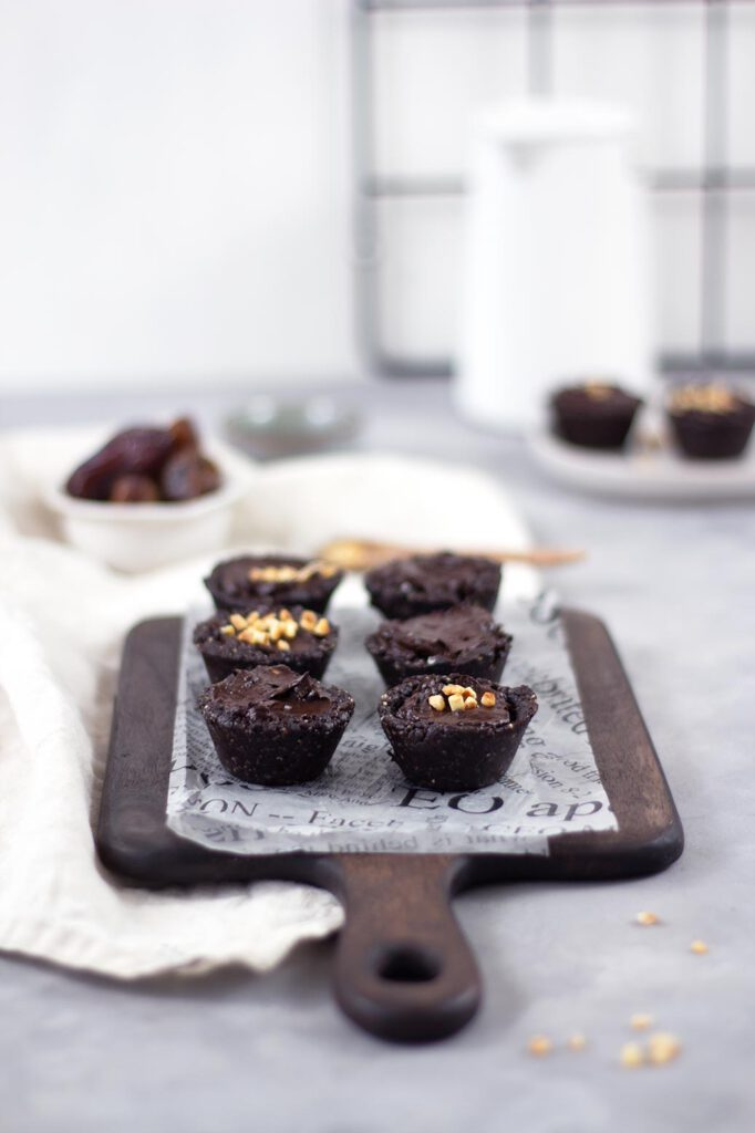 Rezept für vegane Raw Chocolate Cupcakes