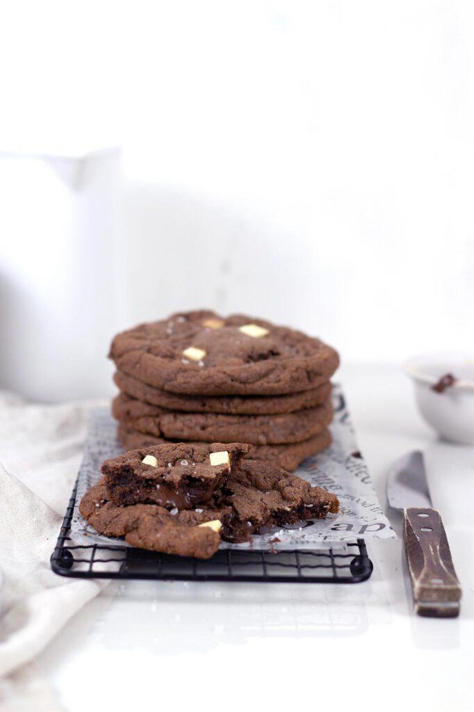 Nutella Cookies – Rezept für Nutella stuffed cookies mit flüssigem Kern
